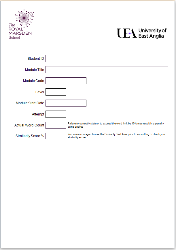 Assignment Template